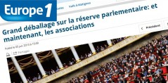 2013-07-05 - Europe1 - Grand déballage sur la réserve parlementaire : et maintenant les associations